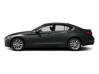 Graphite Shadow 2015 INFINITI Q50 Pictures Q50 Sedan 4D Premium V6 Hybrid photos side view