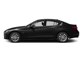 Black Obsidian 2015 INFINITI Q50 Pictures Q50 Sedan 4D Premium V6 Hybrid photos side view