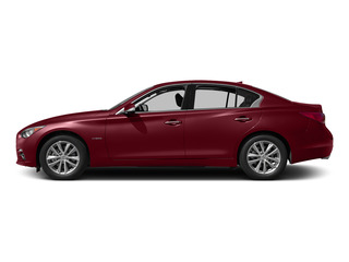 Venetian Ruby 2015 INFINITI Q50 Pictures Q50 Sedan 4D Premium V6 Hybrid photos side view