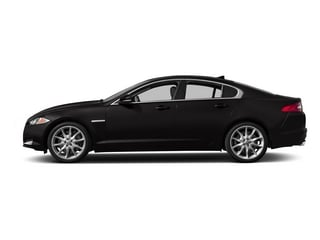 Ultimate Black Metallic 2015 Jaguar XF Pictures XF Sed 4D Portfolio AWD V6 Supercharged photos side view