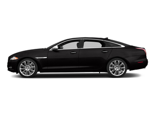 Ultimate Black Metallic 2015 Jaguar XJ Pictures XJ Sedan 4D Supercharged Speed V8 photos side view