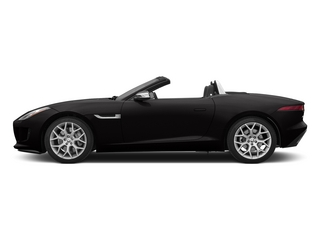 Ultimate Black Metallic 2015 Jaguar F-TYPE Pictures F-TYPE Convertible 2D V6 photos side view