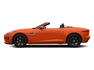 Firesand Metallic 2015 Jaguar F-TYPE Pictures F-TYPE Convertible 2D S V6 photos side view