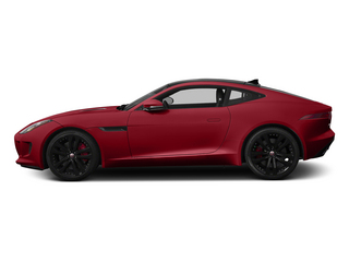 Italian Racing Red 2015 Jaguar F-TYPE Pictures F-TYPE Coupe 2D S V6 photos side view