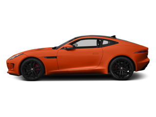 Firesand Metallic 2015 Jaguar F-TYPE Pictures F-TYPE Coupe 2D S V6 photos side view