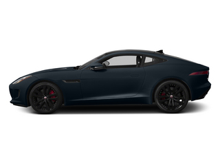 Dark Sapphire Metallic 2015 Jaguar F-TYPE Pictures F-TYPE Coupe 2D S V6 photos side view