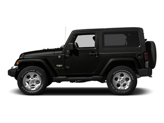 Black Clearcoat 2015 Jeep Wrangler Pictures Wrangler Utility 2D Sahara 4WD V6 photos side view