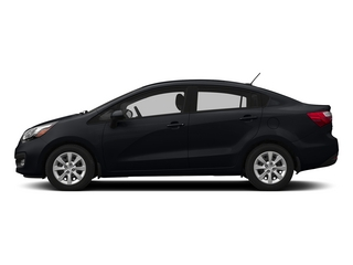Aurora Black 2015 Kia Rio Pictures Rio Sedan 4D EX I4 photos side view