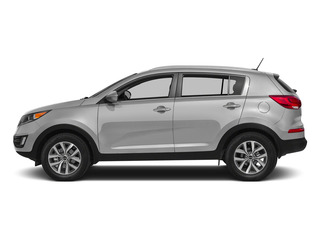 Bright Silver 2015 Kia Sportage Pictures Sportage Utility 4D LX 2WD I4 photos side view