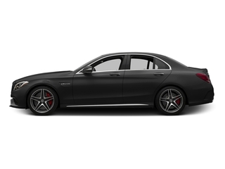 Obsidian Black Metallic 2015 Mercedes-Benz C-Class Pictures C-Class Sedan 4D C63 AMG V8 Turbo photos side view