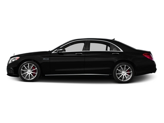 Obsidian Black Metallic 2015 Mercedes-Benz S-Class Pictures S-Class Sedan 4D S63 AMG AWD V8 Turbo photos side view