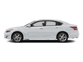 Solid White 2015 Nissan Altima Pictures Altima Sedan 4D SV I4 photos side view