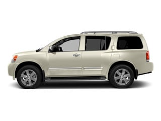 Pearl White 2015 Nissan Armada Pictures Armada Utility 4D Platinum Reserve 4WD V8 photos side view