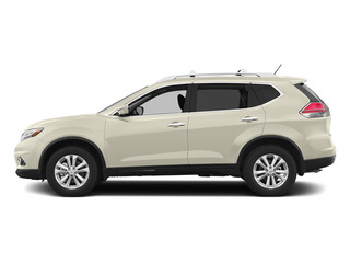 Pearl White 2015 Nissan Rogue Pictures Rogue Utility 4D SV AWD I4 photos side view
