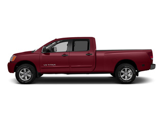 Cayenne Red 2015 Nissan Titan Pictures Titan Crew Cab PRO-4X 4WD photos side view