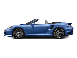 Sapphire Blue Metallic 2015 Porsche 911 Pictures 911 Cabriolet 2D S AWD H6 Turbo photos side view