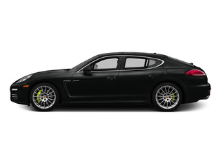 Jet Black Metallic 2015 Porsche Panamera Pictures Panamera Hatchback 4D S e-Hybrid V6 photos side view