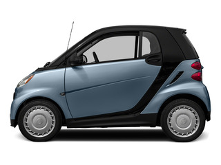 Light Blue Metallic 2015 smart fortwo Pictures fortwo Coupe 2D Passion I3 photos side view