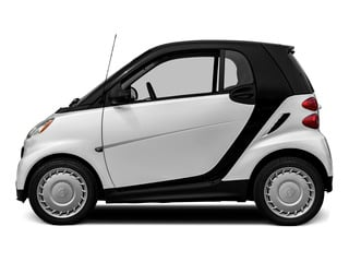 Crystal White 2015 smart fortwo Pictures fortwo Coupe 2D Passion I3 photos side view