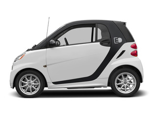 Crystal White 2015 smart fortwo electric drive Pictures fortwo electric drive Coupe 2D Electric photos side view