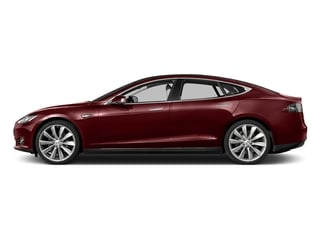 Red Multi-Coat 2015 Tesla Motors Model S Pictures Model S Sedan 4D D AWD Electric photos side view