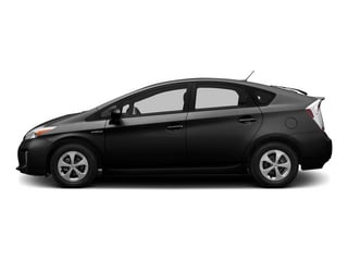 Black 2015 Toyota Prius Pictures Prius Liftback 5D Five I4 Hybrid photos side view