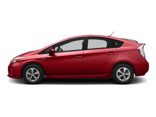 Barcelona Red Metallic 2015 Toyota Prius Pictures Prius Liftback 5D Five I4 Hybrid photos side view