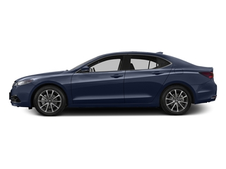 Fathom Blue Pearl 2016 Acura TLX Pictures TLX Sedan 4D Advance V6 photos side view