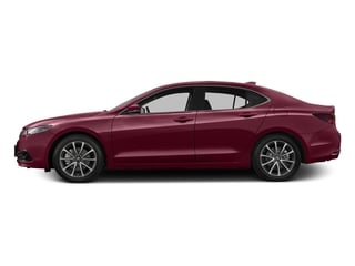 Basque Red Pearl II 2016 Acura TLX Pictures TLX Sedan 4D Advance V6 photos side view