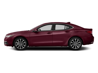Basque Red Pearl II 2016 Acura TLX Pictures TLX Sedan 4D Advance AWD V6 photos side view