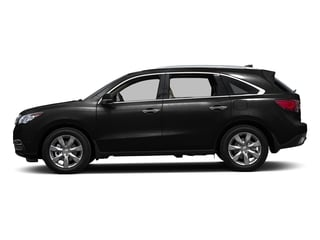 Crystal Black Pearl 2016 Acura MDX Pictures MDX Utility 4D Advance AWD V6 photos side view