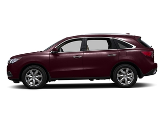 Dark Cherry Pearl 2016 Acura MDX Pictures MDX Utility 4D Advance AWD V6 photos side view