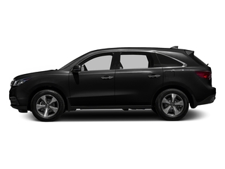 Crystal Black Pearl 2016 Acura MDX Pictures MDX Utility 4D 2WD V6 photos side view