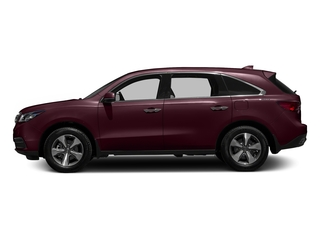 Dark Cherry Pearl 2016 Acura MDX Pictures MDX Utility 4D 2WD V6 photos side view