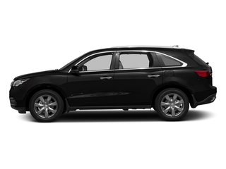 Crystal Black Pearl 2016 Acura MDX Pictures MDX Utility 4D Advance DVD 2WD V6 photos side view