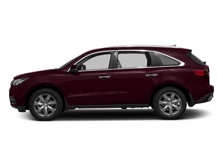 Dark Cherry Pearl 2016 Acura MDX Pictures MDX Utility 4D Advance DVD 2WD V6 photos side view
