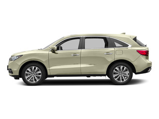 White Diamond Pearl 2016 Acura MDX Pictures MDX Utility 4D Technology DVD AWD V6 photos side view