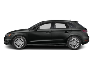 Mythos Black Metallic 2016 Audi A3 e-tron Pictures A3 e-tron Hatchback 5D E-tron Premium photos side view