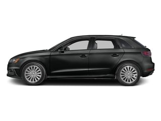 Mythos Black Metallic 2016 Audi A3 e-tron Pictures A3 e-tron Hatchback 5D E-tron Prestige photos side view