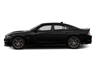 Pitch Black Clearcoat 2016 Dodge Charger Pictures Charger Sedan 4D R/T Scat Pack V8 photos side view