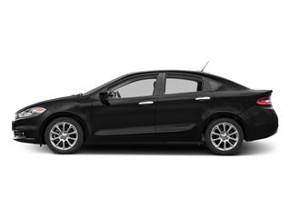 Pitch Black Clearcoat 2016 Dodge Dart Pictures Dart Sedan 4D Limited I4 photos side view