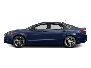 Deep Impact Blue 2016 Ford Fusion Pictures Fusion Sedan 4D Titanium AWD I4 Turbo photos side view