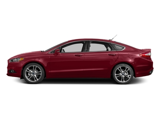 Ruby Red Metallic Tinted Clearcoat 2016 Ford Fusion Pictures Fusion Sedan 4D Titanium AWD I4 Turbo photos side view