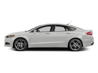 White Platinum Metallic Tri-Coat 2016 Ford Fusion Pictures Fusion Sedan 4D Titanium AWD I4 Turbo photos side view