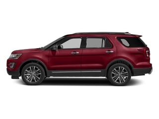 Ruby Red Metallic Tinted Clearcoat 2016 Ford Explorer Pictures Explorer Utility 4D Platinum 4WD V6 photos side view