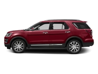 Ruby Red Metallic Tinted Clearcoat 2016 Ford Explorer Pictures Explorer Utility 4D Limited 2WD V6 photos side view