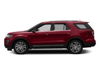 Ruby Red Metallic Tinted Clearcoat 2016 Ford Explorer Pictures Explorer Utility 4D XLT 2WD V6 photos side view