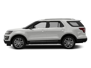 Oxford White 2016 Ford Explorer Pictures Explorer Utility 4D XLT 2WD V6 photos side view