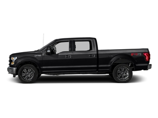 Shadow Black 2016 Ford F-150 Pictures F-150 Crew Cab Lariat 4WD photos side view