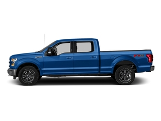 Blue Flame Metallic 2016 Ford F-150 Pictures F-150 Crew Cab Lariat 4WD photos side view